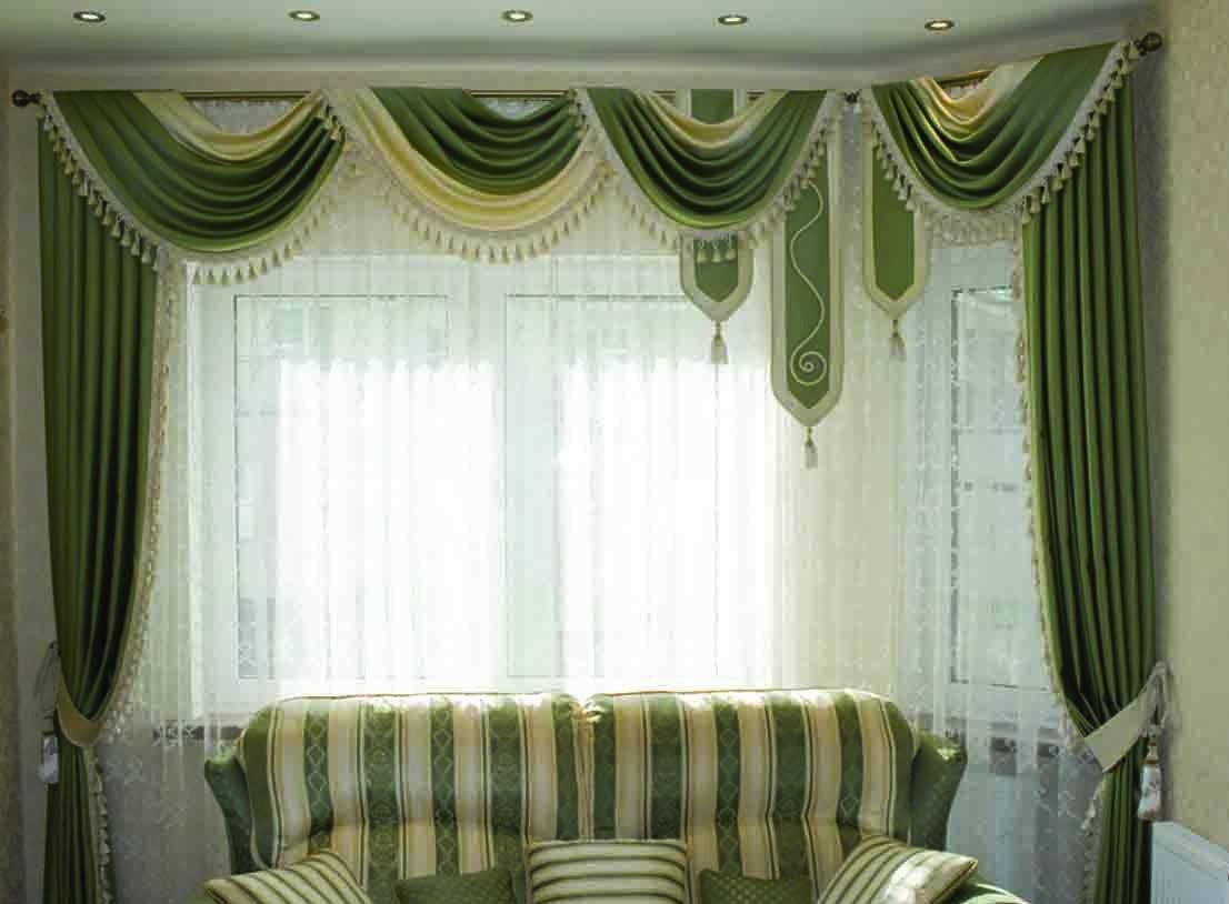 шторы в зал с ламбрекенами фото