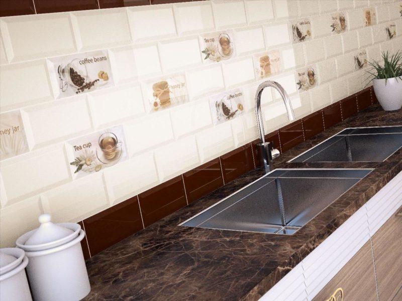 плитка для кухни на фартук