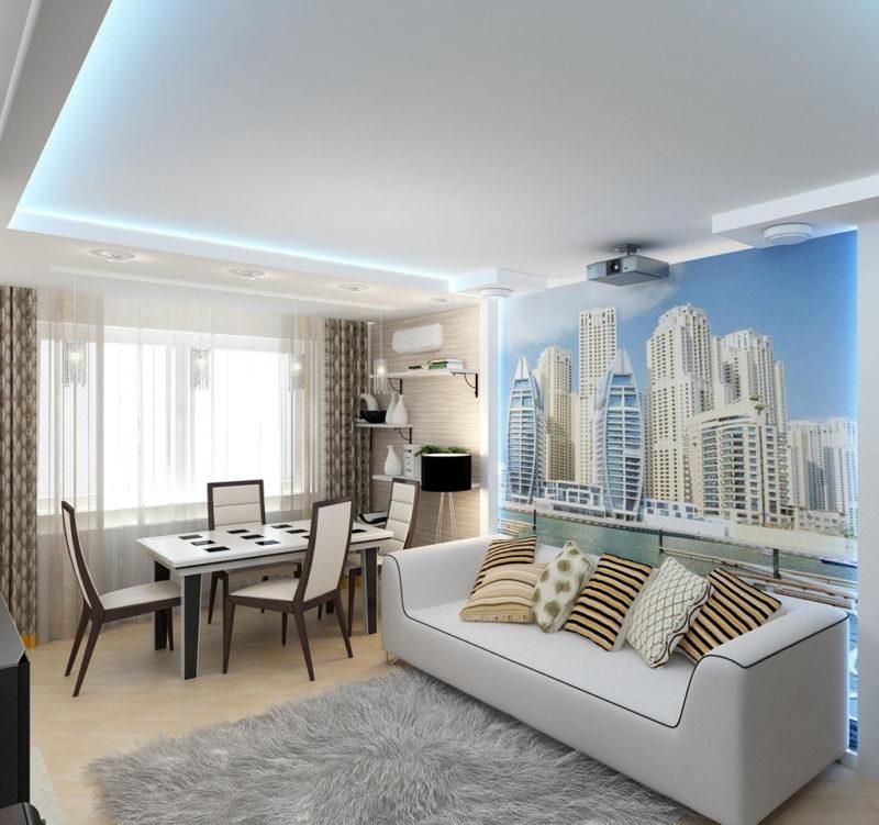 дизайн гостиной комнаты 18 кв м