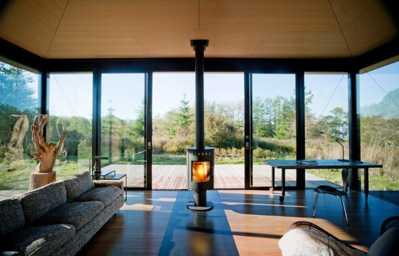 дом с панорамными окнами фото