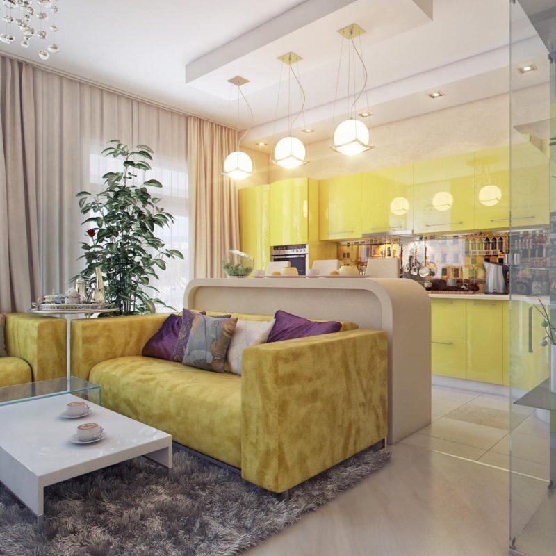 Кухня-гостиная: дизайн интерьера, фото-идеи, планировка и зонирование
