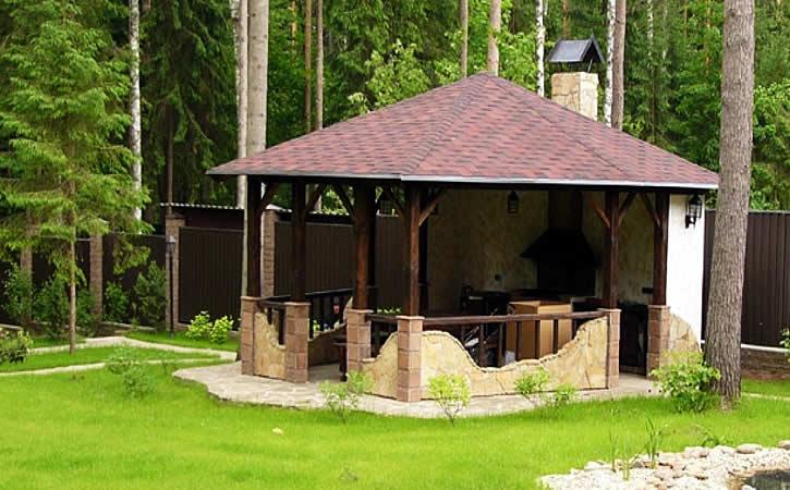 Место для мангала на даче фото и советы по выбору участка