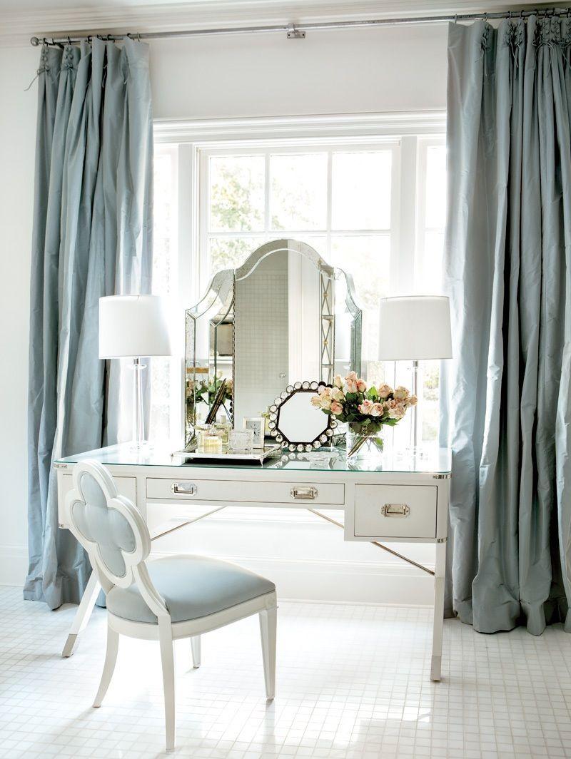 Красивые туалетные столики с зеркалом, 40 фото