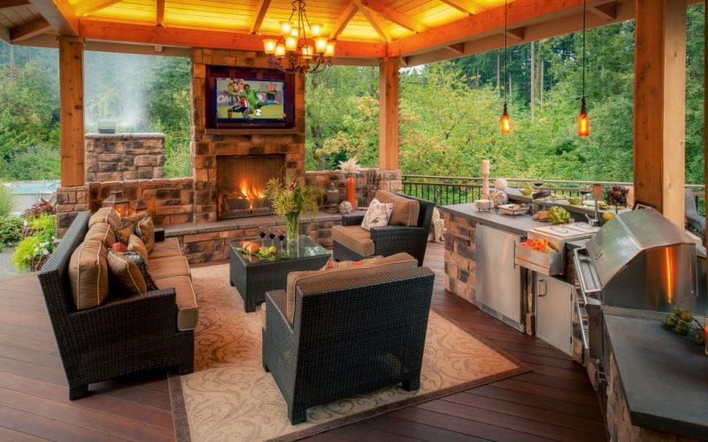 летняя кухня на даче проекты фото