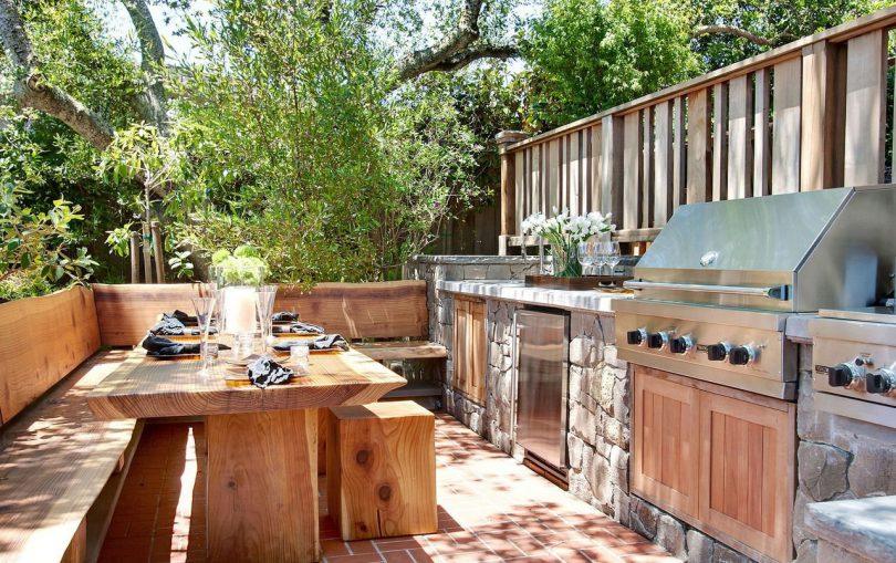 Летняя кухня на даче: проекты, фото идеи дизайна уличной кухни своими руками
