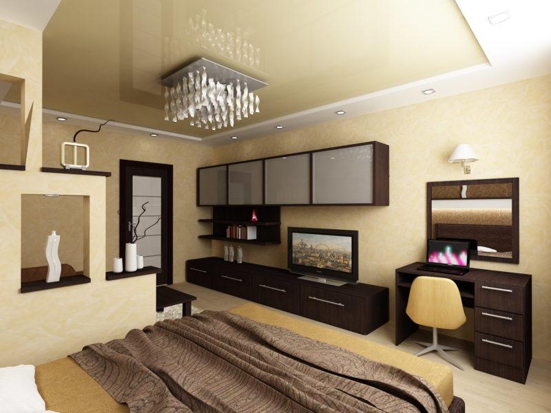 гостиная спальня в одной комнате