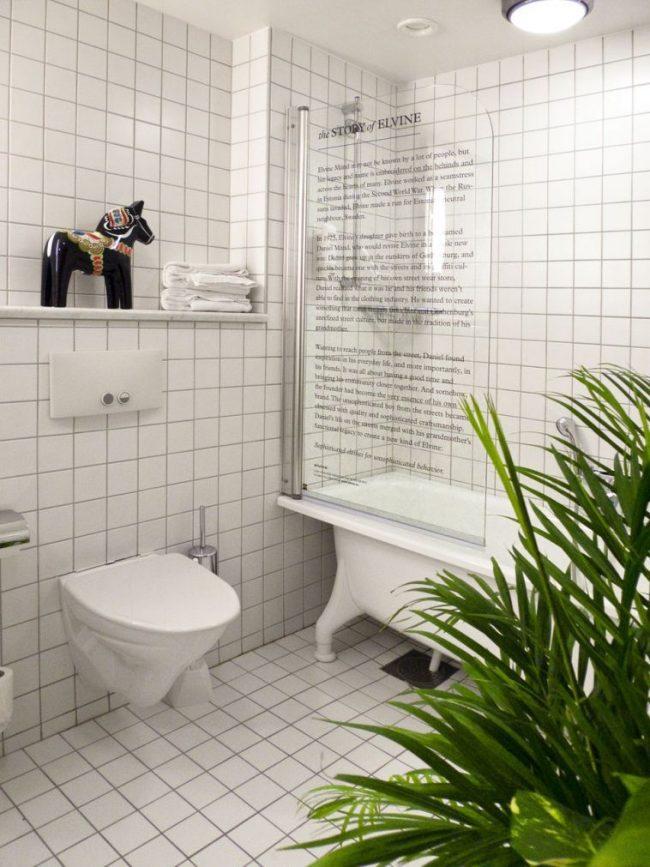 Стеклянная шторка для ванной: