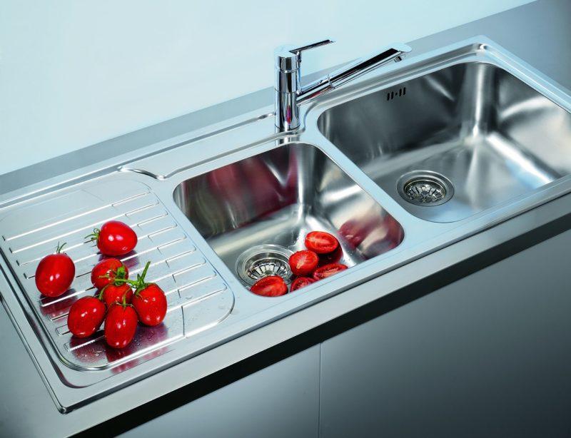 мойка для кухни из нержавеющей стали