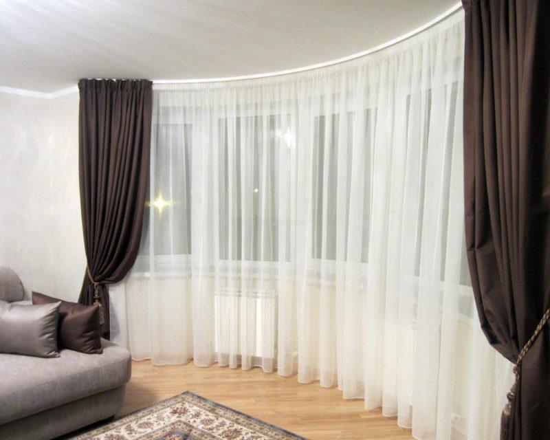 Выбор цвета штор для спальни
