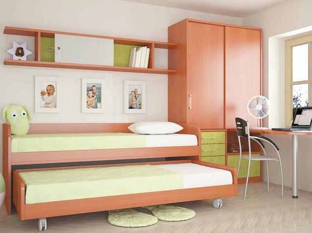 Выдвижные кровати в детской
