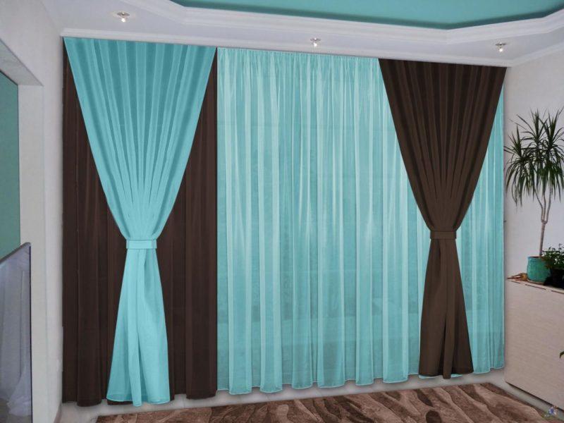 Бирюзовые шторы