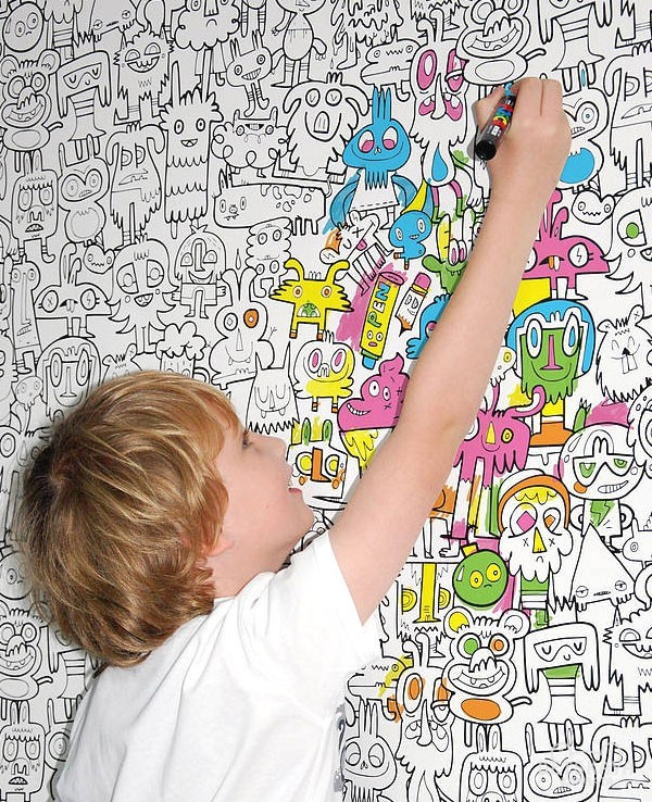 Обои для рисования в детской