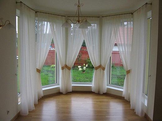 Шторы для углового окна