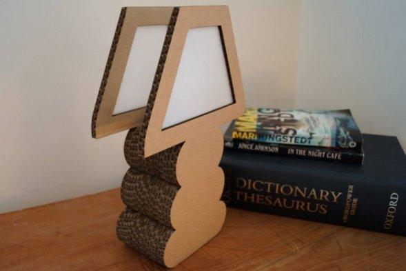 Картоновый светильник своими руками