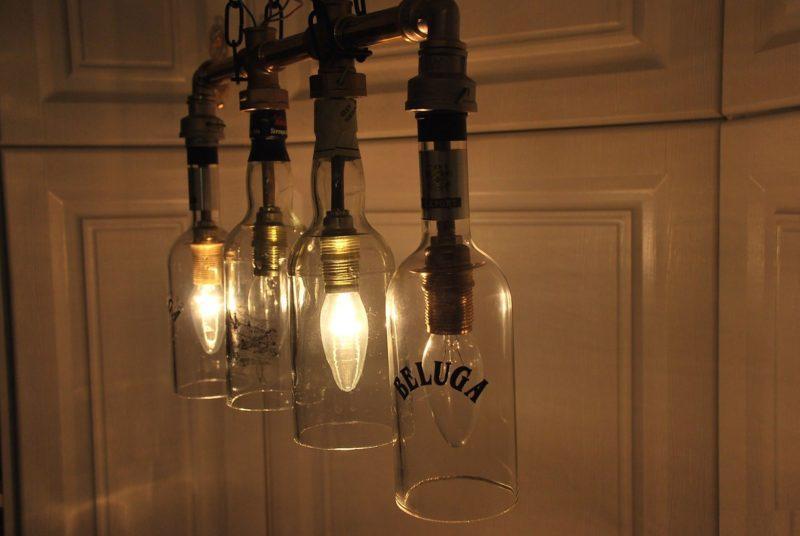 Светильники для кухни своими руками из бутылок