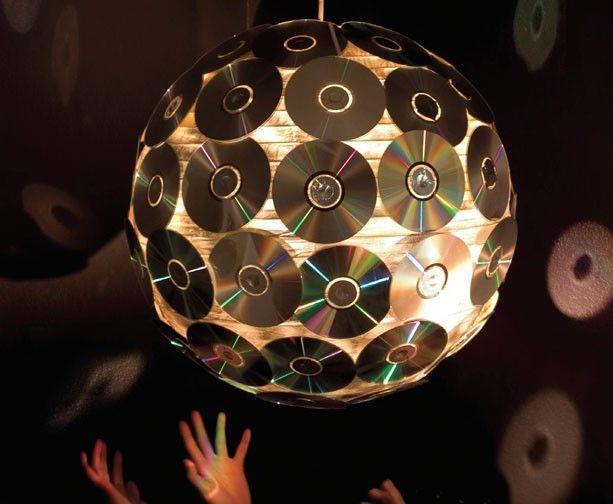 Светильники своими руками из компакт дисков
