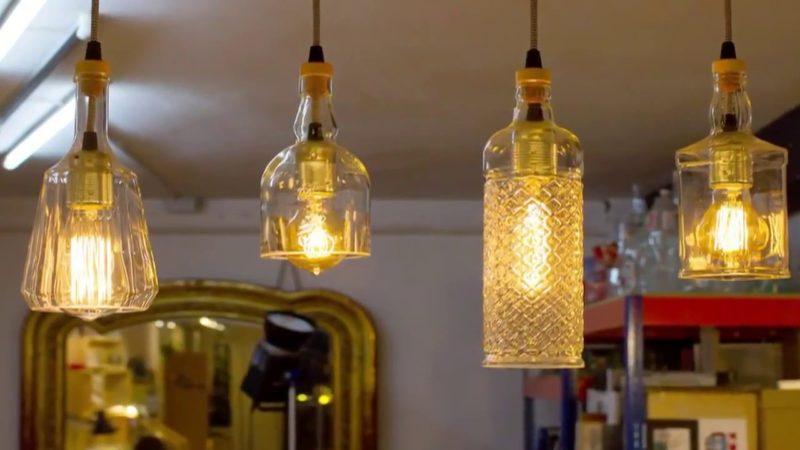 Светильники своими руками из стеклянных бутылок