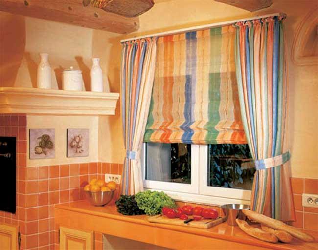 Цветные римские шторы