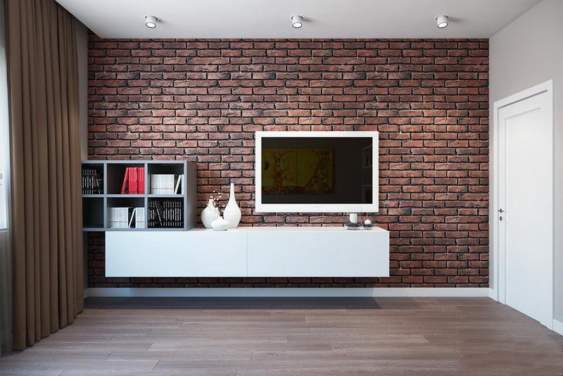 Кирпичные стены в интерьере