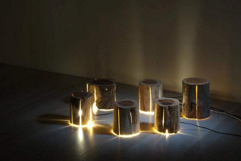 Необычные деревянные светильники своими руками