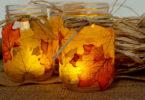Осенний светильник своими руками