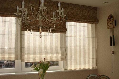 Римские двойные шторы