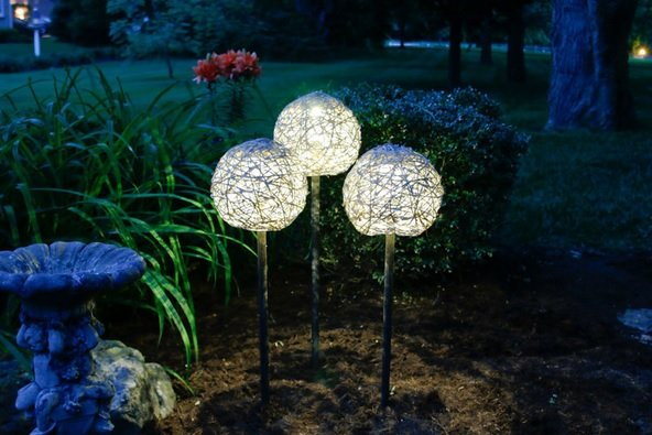 Садовые светильники своими руками