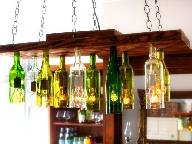 Светильники своими руками из бутылок