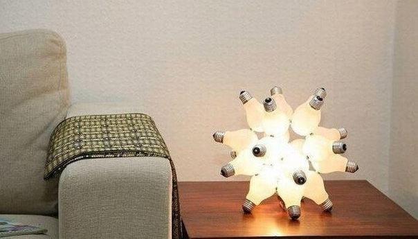 Светильники своими руками из лампочек