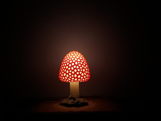 Светильник своими руками в виде гриба