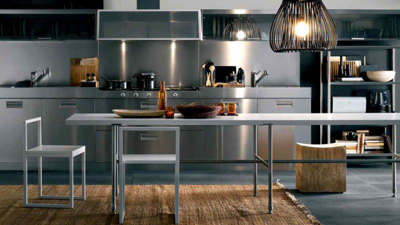 Кухня из металла