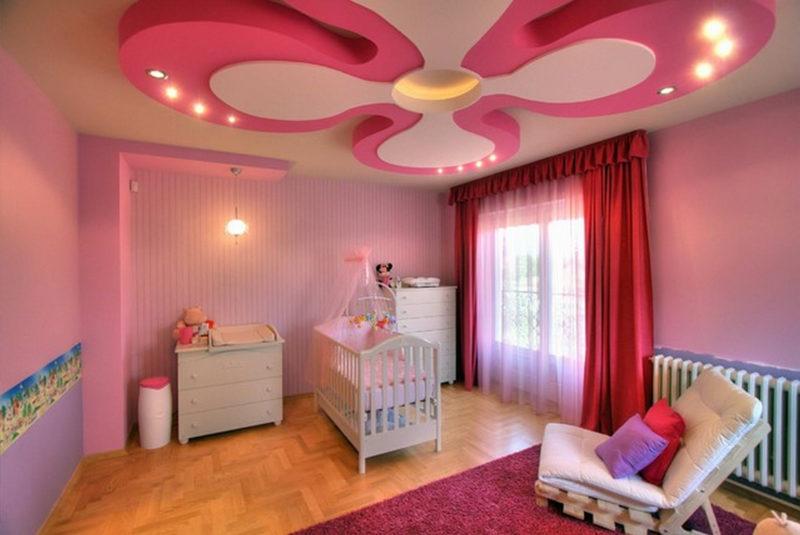 потолок из гипсокартона для детской