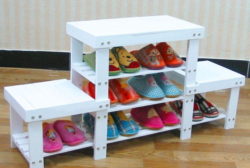 как соединить полку для обуви