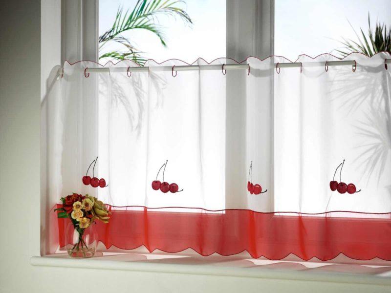 кухня: как выбрать ткань для шторы