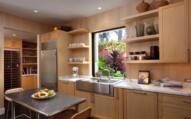 Декор интерьера: кухня из дерево