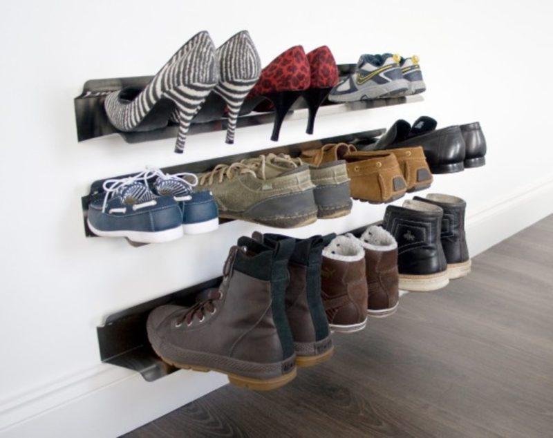 оригинальные идеи как сделать обувную полку
