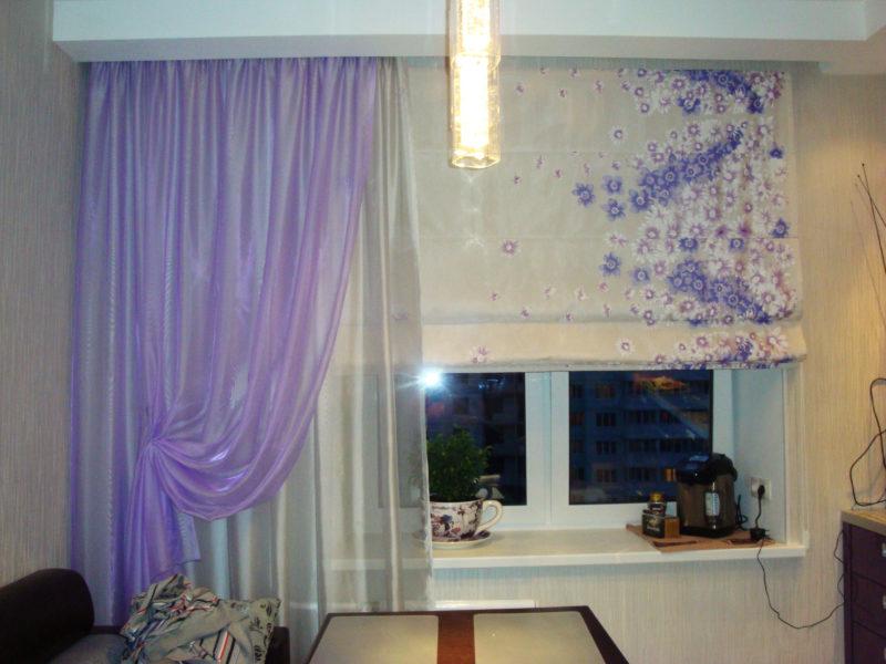 Дизайн кухонного окна: виды штор