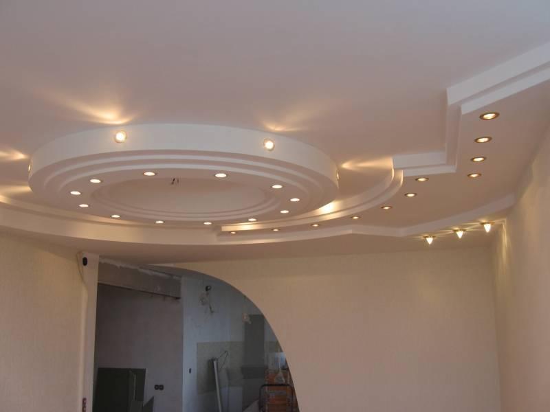 установка потолка из гипсокартона в доме своими руками