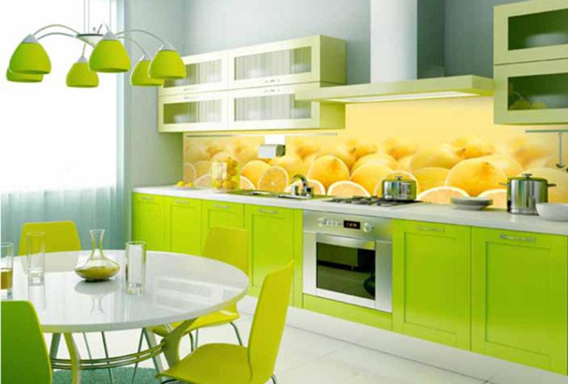 Дизайн интерьера: яркое оформление кухни