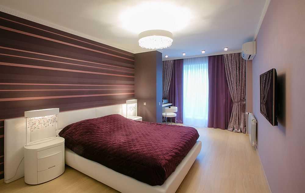 Дизайн спальни: двойные и тройные шторы
