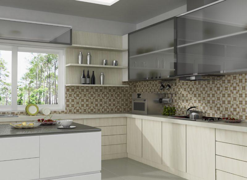 Дизайн интерьера: мозаика на кухне