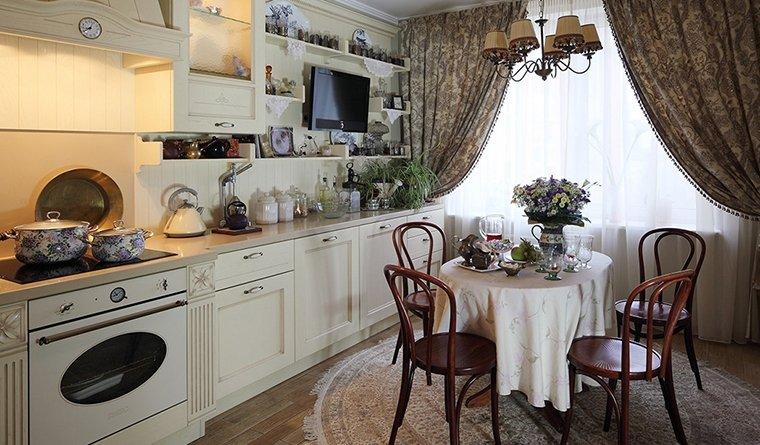 кухня: дизайнерские решения в оформлении штор