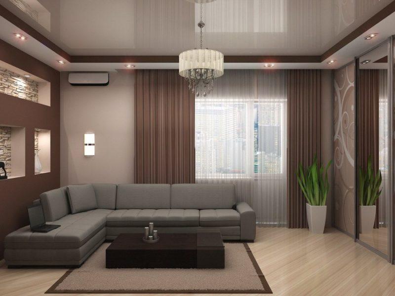 подвесные потолки в гостиную