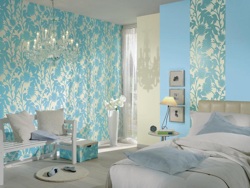 Спальня: выбор обоев с рисунком