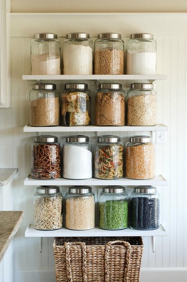 Украшение кухни банками со специями