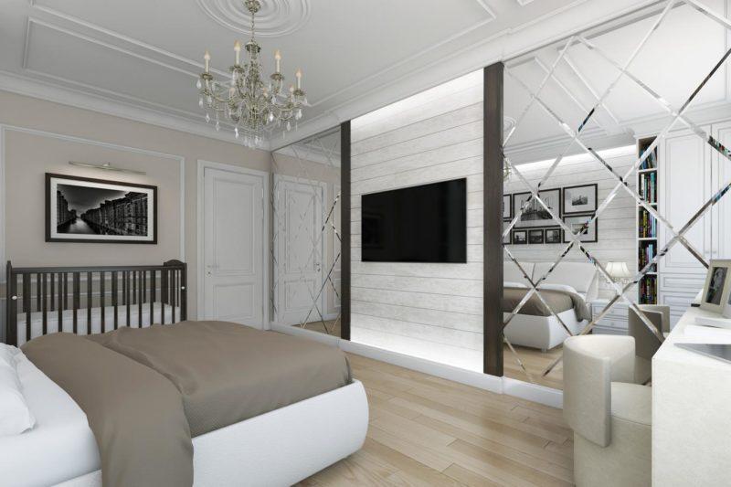Спальня: зеркало как дизайнерский прием в интерьере