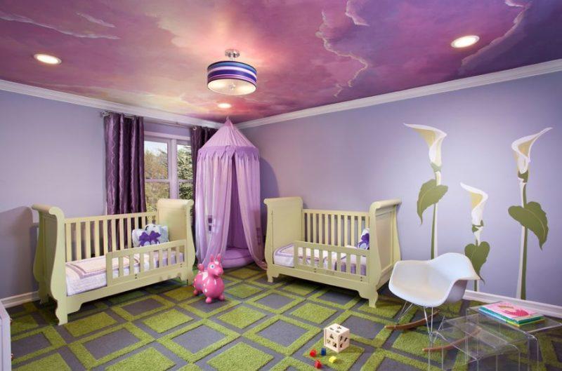 подвесные потолки в детскую комнату
