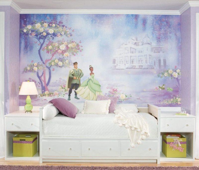 оформление стен в детской для девочки