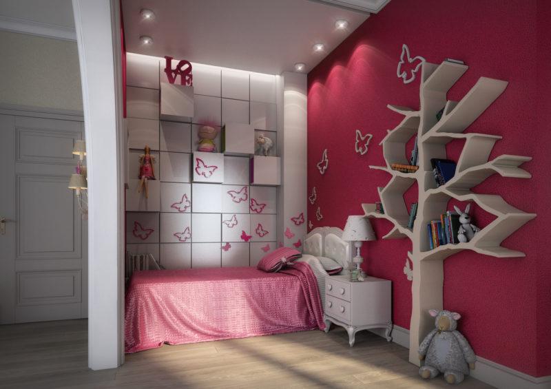 комната девочки: как оформить стены