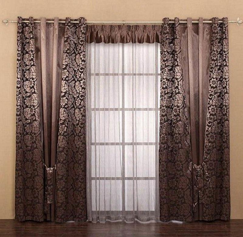 Как украсить окно шторой с ламбрекеном